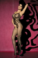 Obsessive bodystocking F205 black (Бодикомбинезон)