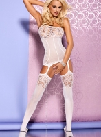 Obsessive Bodystocking F204 white (Бодикомбинезон) XXL