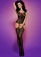 Obsessive Bodystocking F211 black (Бодикомбинезон) XL/XXL