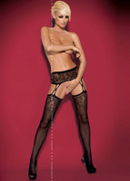 Чулки Obsessive Os_Garter stockings S206 черный